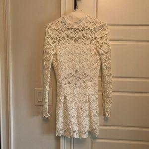 Nightcap Clothing White Lace Romper
